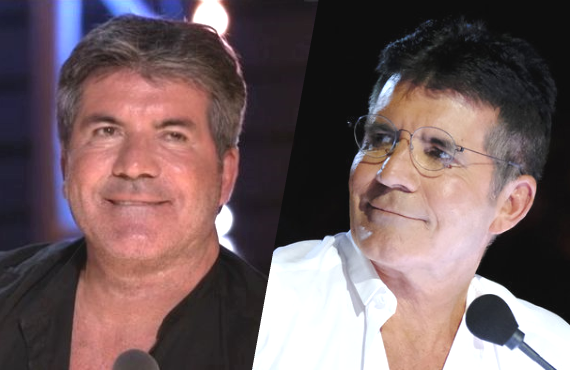 Then and Now: Cowell in 2016 (left), and in 2020 (right). (Photos: ITV/NBC)