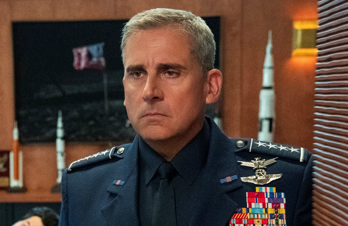 Steve Carell in Space Force. (Netflix)