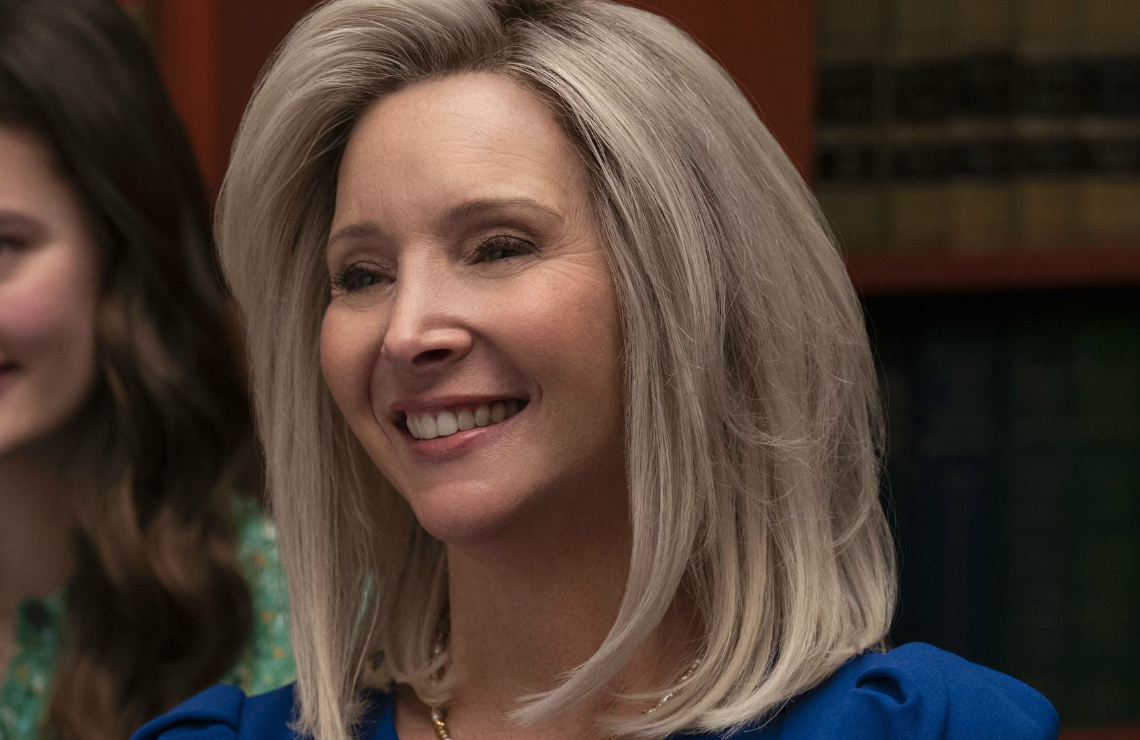 Lisa Kudrow in Space Force. (Netflix)
