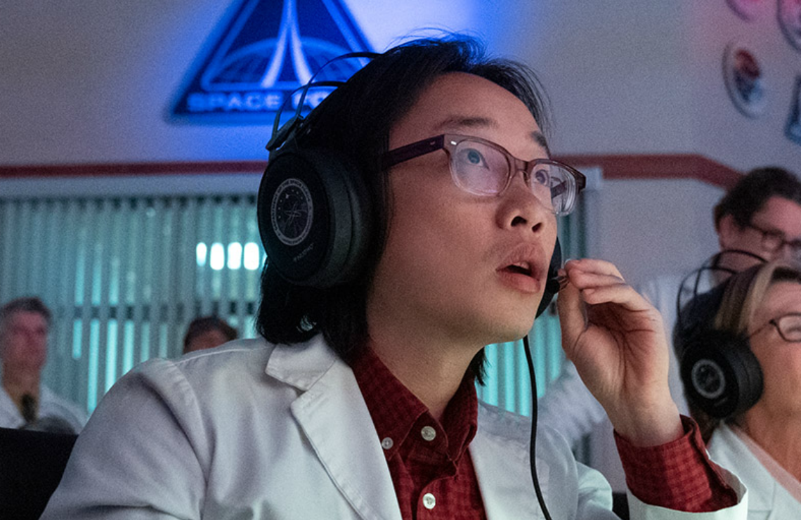 Jimmy O. Yang in Space Force. (Netflix)