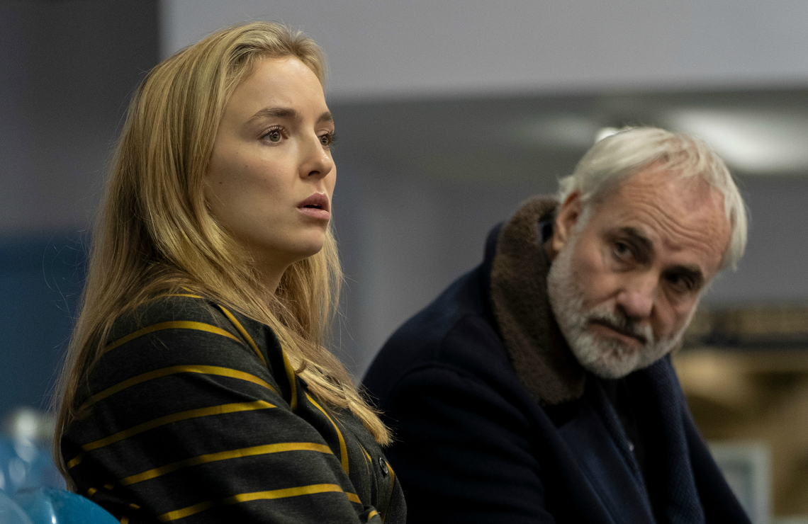 Jodie Comer and Kim Bodnia in Killing Eve. (BBC America)