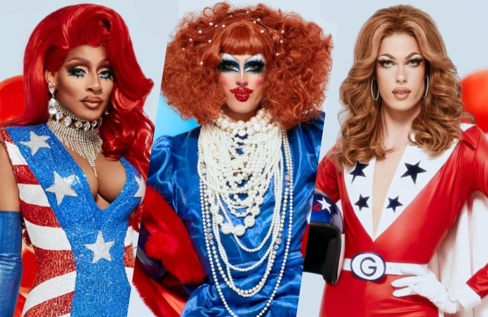And then there were three: RuPaul's Drag Race Season 12 finalists Jaida Essence Hall, Crystal Methyd and Gigi Goode (Photos: VH1)