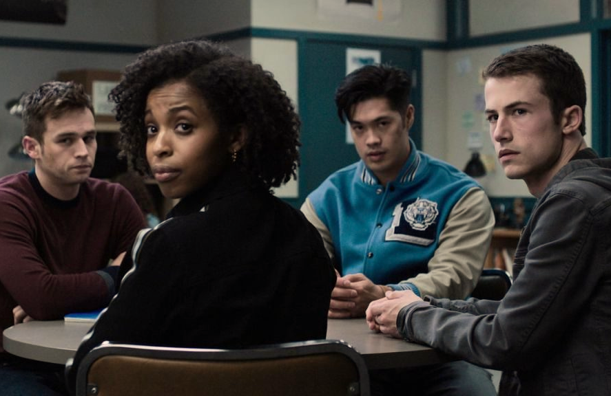 Brandon Flynn, Grace Saif, Ross Butler, Dylan Minnette in 13 Reasons Why. (Netflix)
