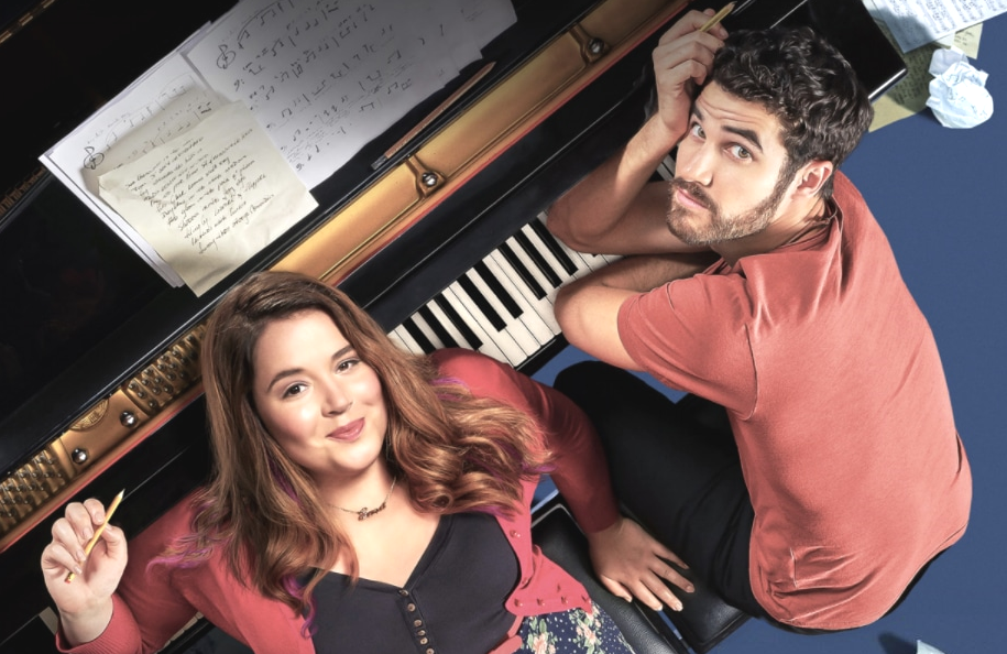 Kether Donohue and Darren Criss in Royalties. (Quibi)