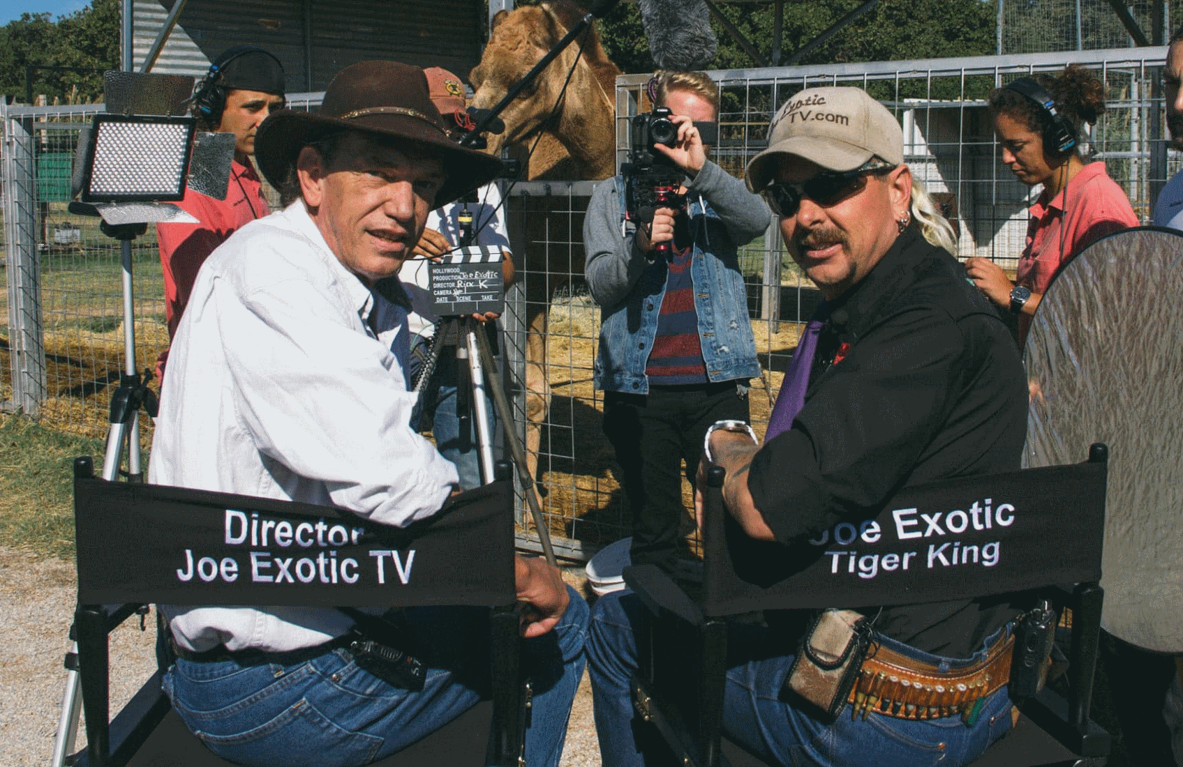 Rick Kirkham and Joe Exotic in The Truth Behind Joe Exotic: The Rick Kirkham Story. (Investigation Discovery)