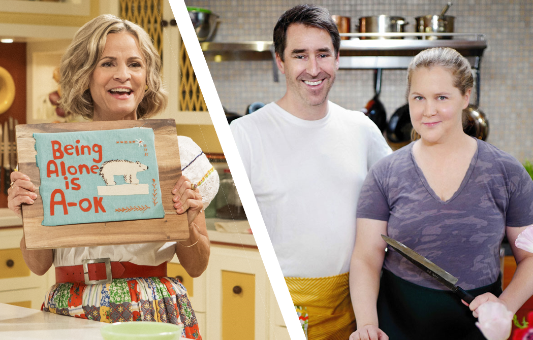 At Home With Amy Sedaris and Amy Schumer Learns To Cook. (TruTV/Food Network)