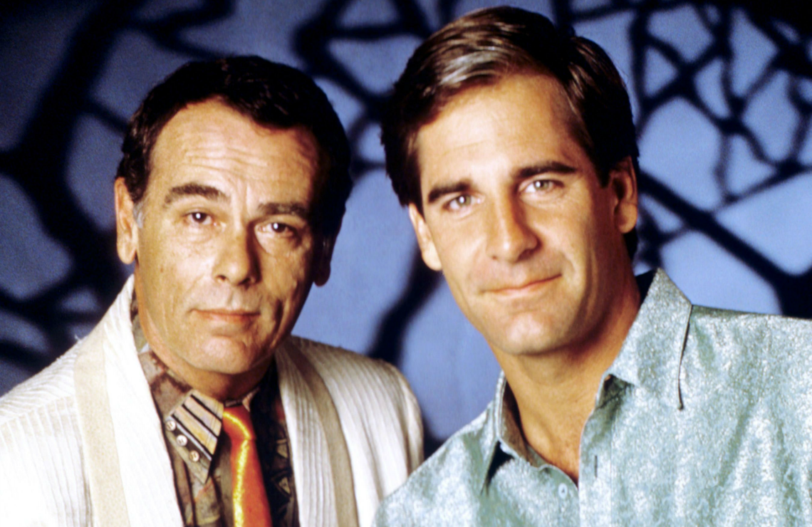 Scott Bakula and Dean Stockwell in Quantum Leap. (NBC)