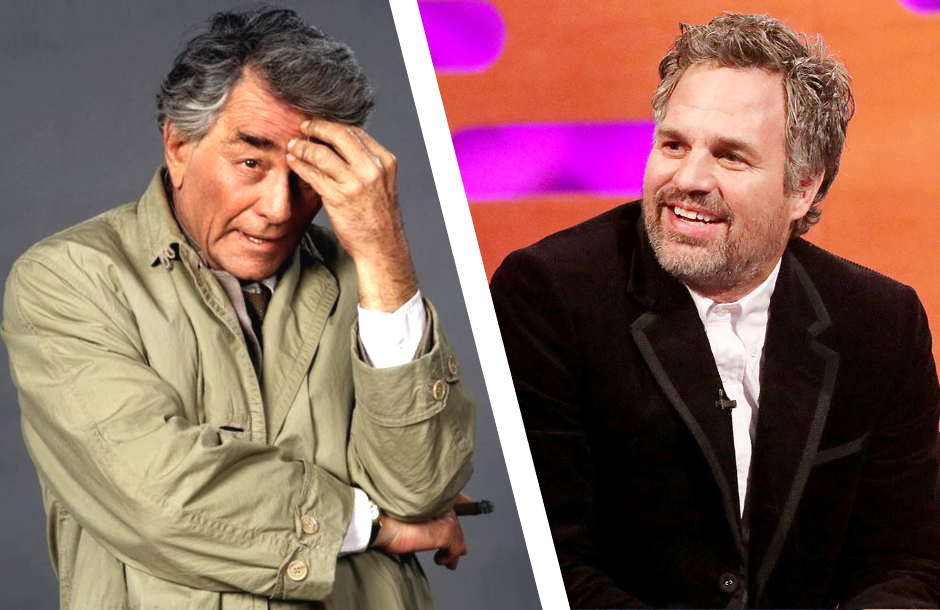 Mark Ruffalo is said to have considered playing the lead in a Columbo reboot. (Photos: NBC/BBC)