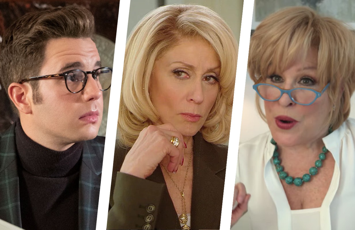 Ben Platt, Judith Light and Bette Midler lead the Season 2 cast of The Politician. (Photos: Netflix)