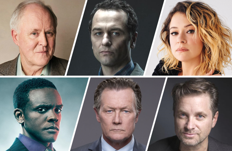 John Lithgow, Matthew Rhys,  Tatiana Maslany, Chris Chalk, Robert Patrick and Shea Whigham are among the many familiar faces starring in Perry Mason. (HBO)