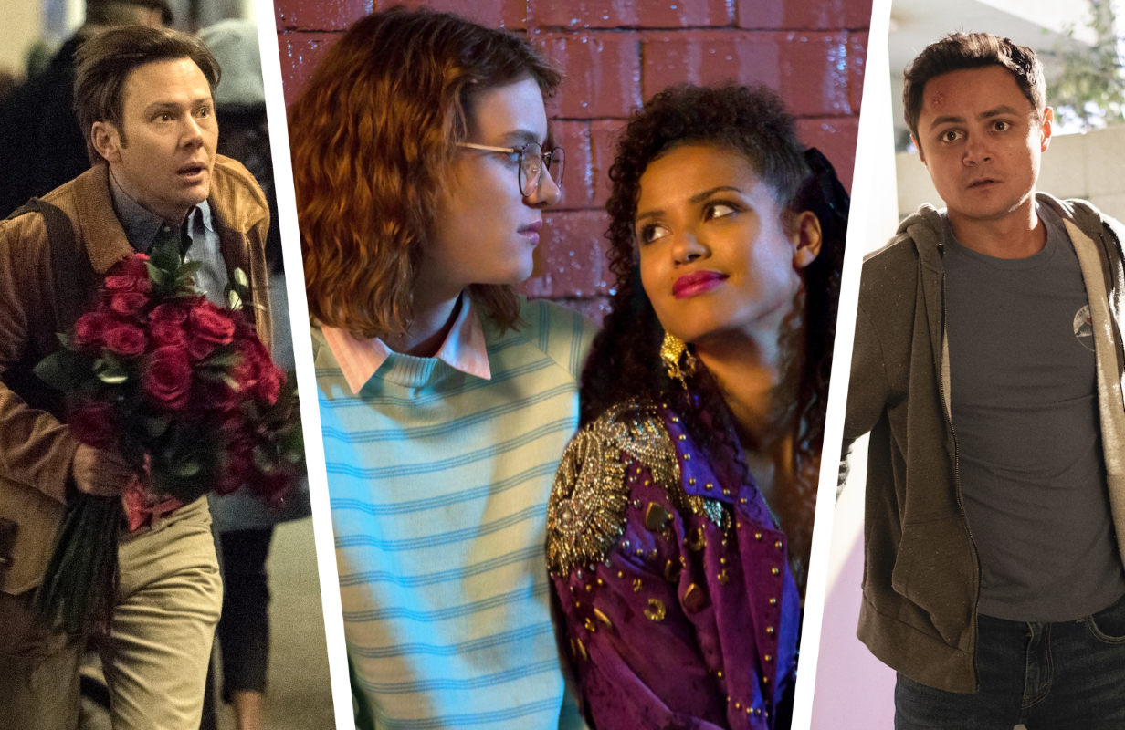 Jimmi Simpson in The Twilight Zone (2019), Gugu Mbatha-Raw & Mackenzie Davis  in Black Mirror, and Arturo Castro in Room 104 (Photos: CBS All Access/Netflix/HBO)