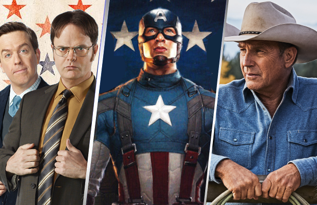 The Office, Captain America and Yellowstone are among the shows and movies marathoning on TV this Fourth of July weekend.