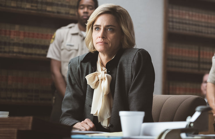 Amanda Peet in tonight's season finale of Dirty John: The Betty Broderick Story. (Photo by: Isabella Vosmikova/USA Network)