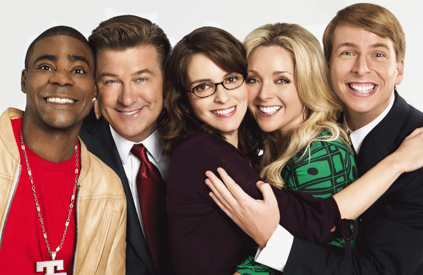 Tracy Morgan, Alec Baldwin, Tina Fey,  Jane Krakowski and Jack McBrayer revive their characters in tonight's 30 Rock: A One-Time Special. (NBC)