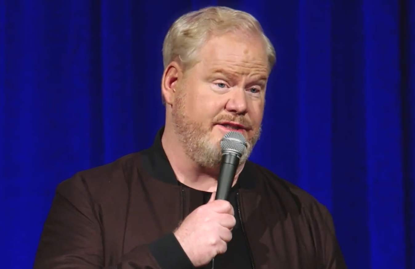 Jim Gaffigan in his new two-part stand-up special, The Pale Tourist. (Amazon)