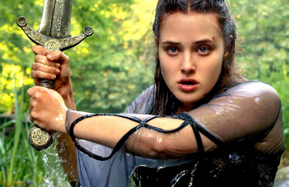Katherine Langford stars in Cursed.(Netflix)