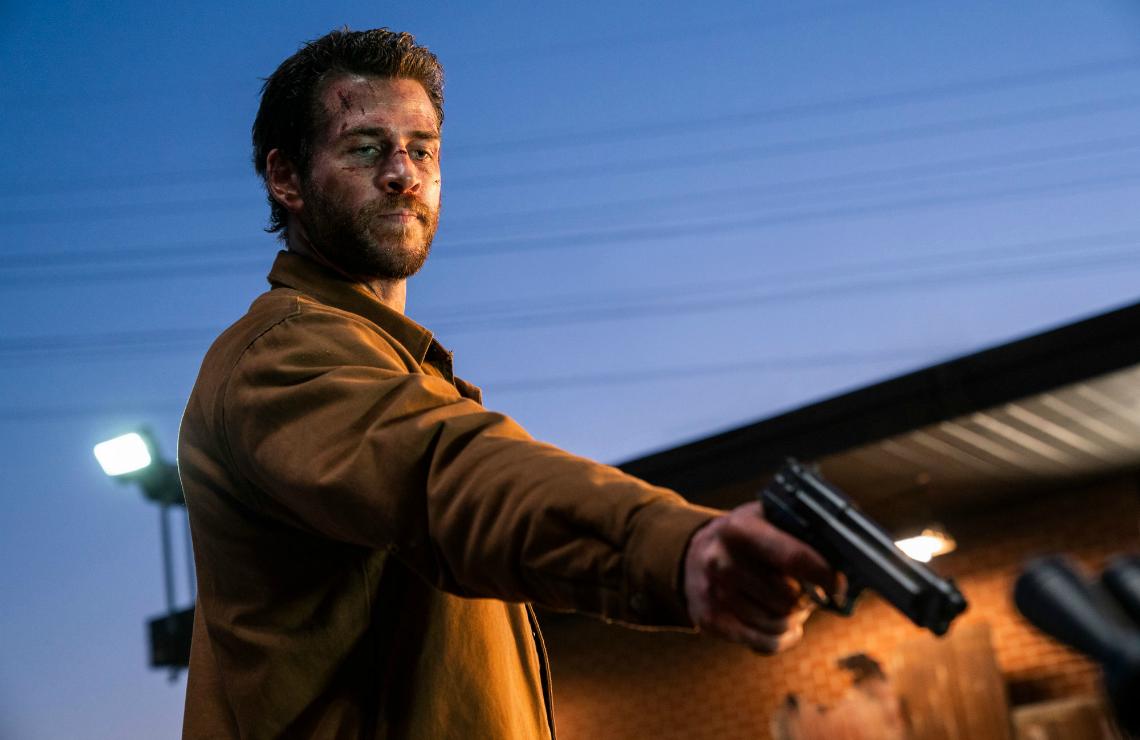 Liam Hemsworth in Most Dangerous Game. (Quibi)