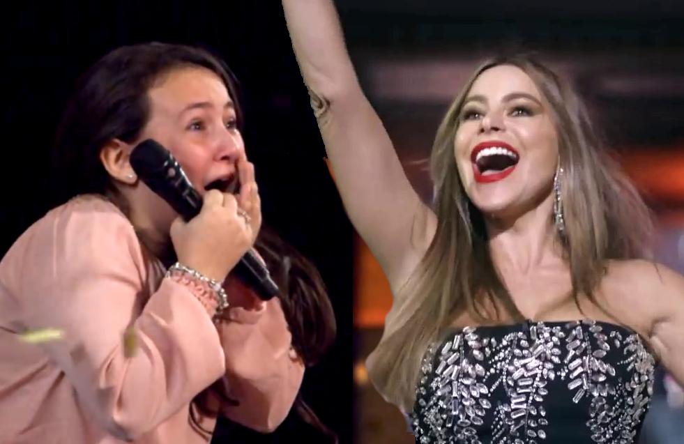 Roberta Battaglia wows Sofia Vergara on America's Got Talent . (Photos: NBC)