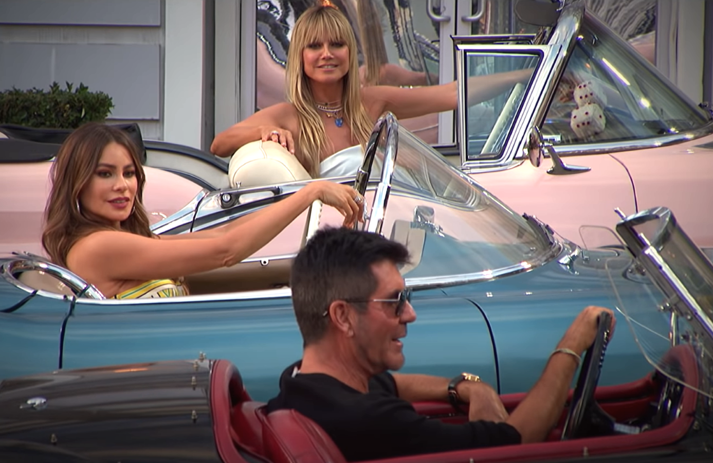 Tonight's Judge Cuts episode will see AGT's judges arrive by car as they review acts on a new drive-in movie-styled set. (NBC)