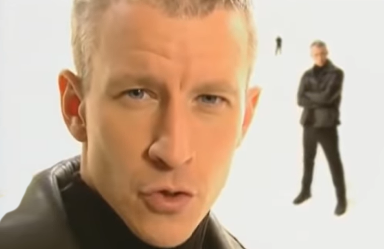 A leather jacket-clad Anderson Cooper hosted The Mole, which premiered on ABC in 2001.