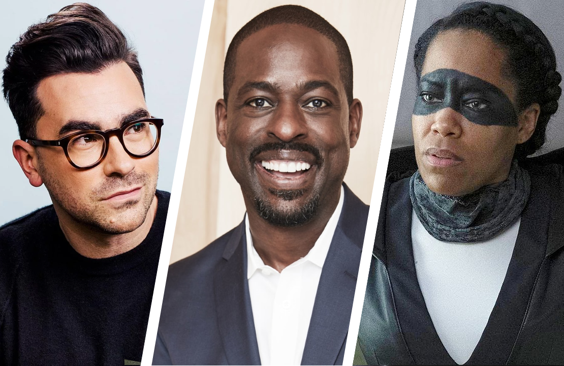 Dan Levy, Sterling K Brown and Regina King were among the Emmy nominees announced Tuesday. (Photos: CBC/NBC.HBO)
