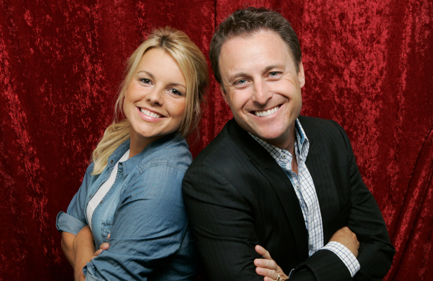 Ali Fedotowsky and Chris Harrison in a promotional photo for The Bachelorette, circa 2010. (ABC)