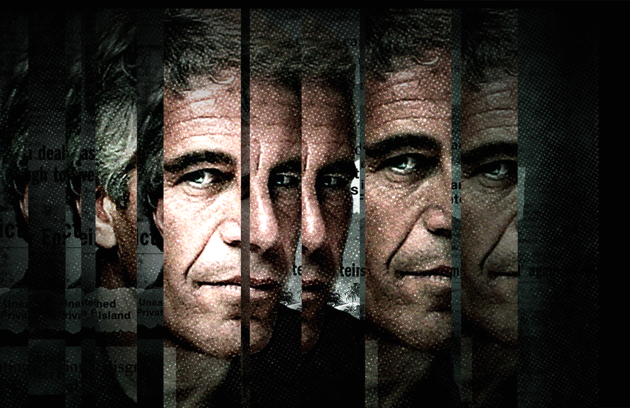 A promotional image for Surviving Jeffrey Epstein. (Lifetime)