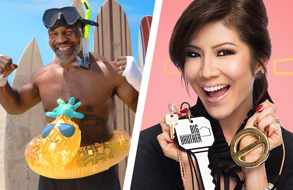 Mike Tyson stars in Rumble on the Reef, Julie Chen Moonves hosts Big Brother. (Photos: Discovery/CBS)