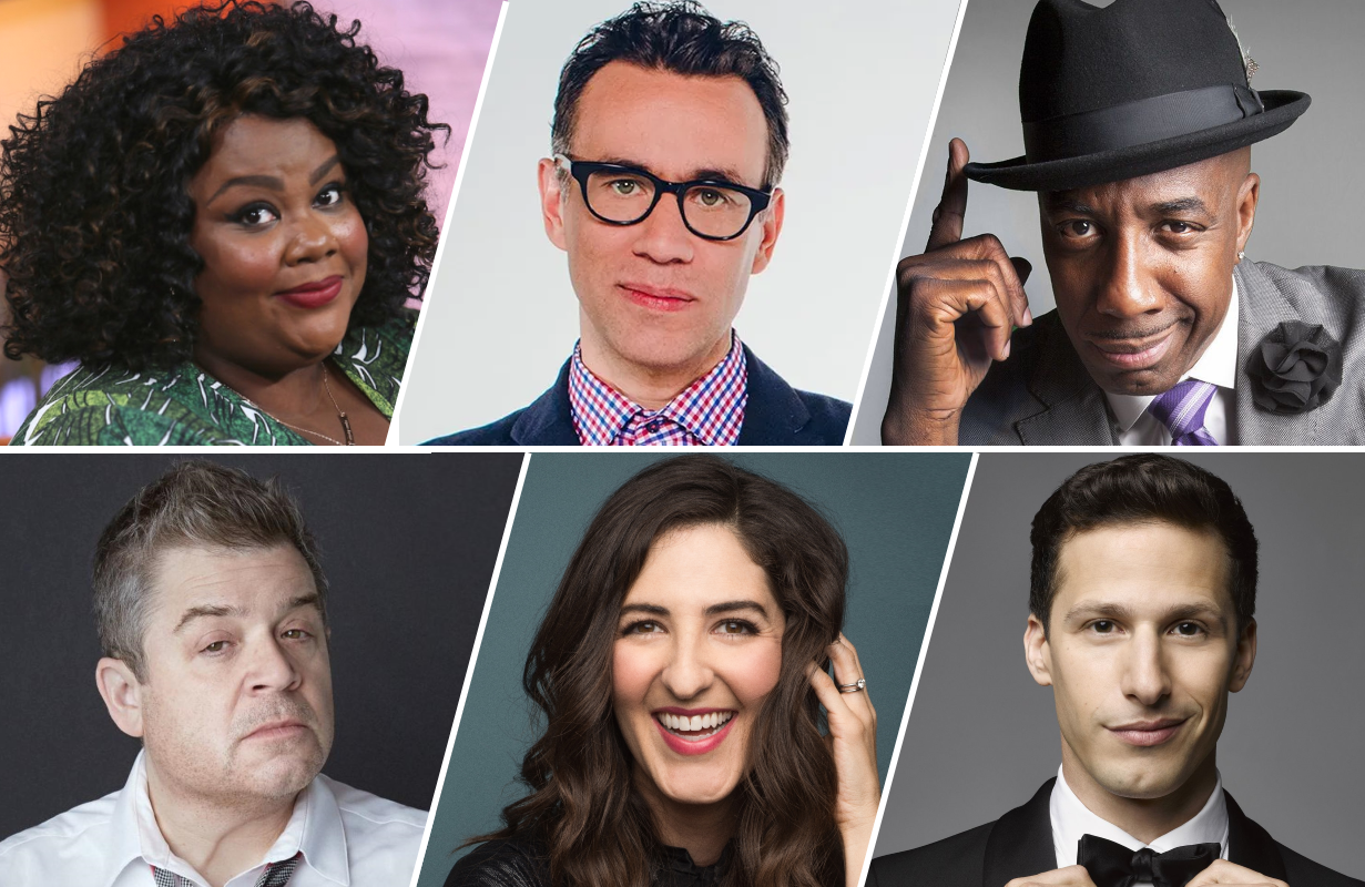 Nicole Byer, Fred Armisen, J.B. Smoove, Patton Oswalt, D'Arcy Carden and Andy Samberg are just a few of the comedy all-stars appearing in Quibi's Mapleworth Murders.