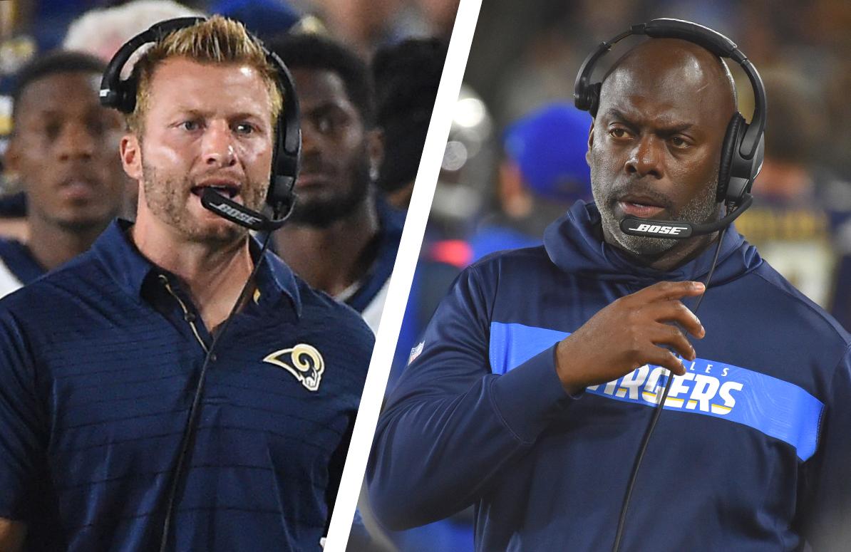 Head coaches Sean McVay of the Rams and Anthony Lynn of the Chargers are set to take center stage this season in  HBO's Hard Knocks: Los Angeles.