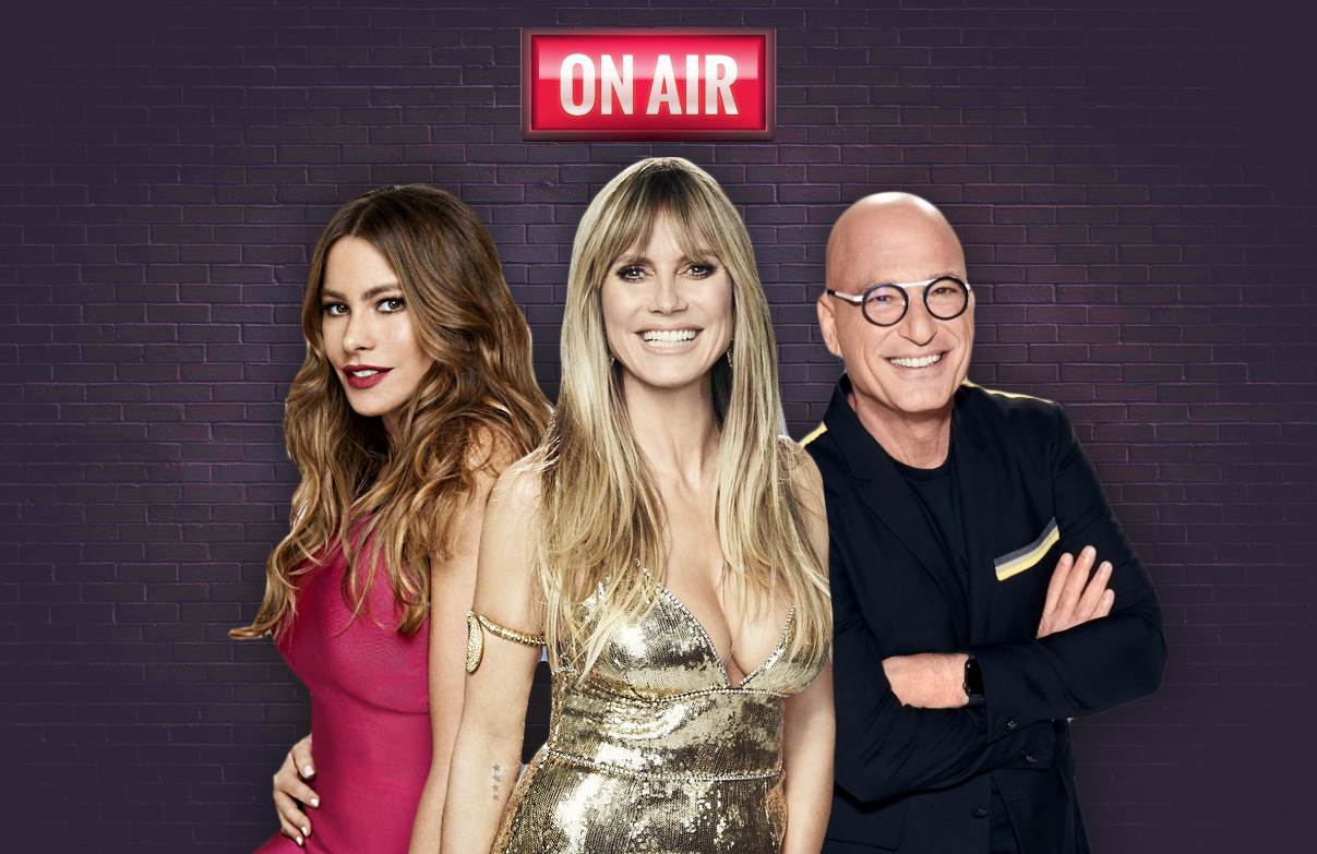 Sofia Vergara, Heidi Klum, Howie Mandel and guest Kelly Clarkson will judge the first eleven finalists tonight on America's Got Talent. (NBC)