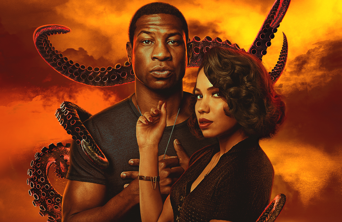 Jonathan Majors and Jurnee Smollett in Lovecraft Country. (HBO)