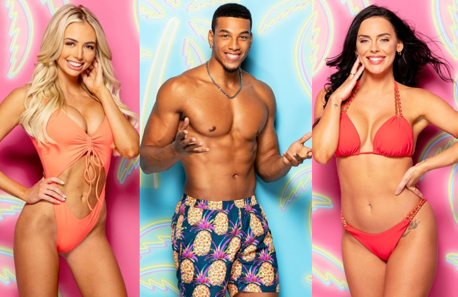Mackenzie Dipman, Jeremiah White, and Kaitlynn Anderson are among the contestants vying for love (and a $100,000 prize) this season on Love Island. (Photos: CBS)