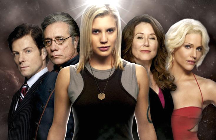 The cast oi Syfy's Battlestar Galactica, circa 2009.