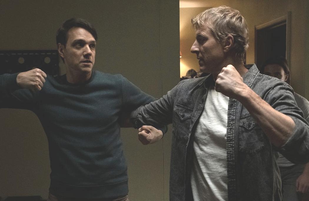 Karate Kid's Daniel (Ralph Macchio) and Johnny (William Zabka) have scores to settle in Cobra Kai. (Netflix)