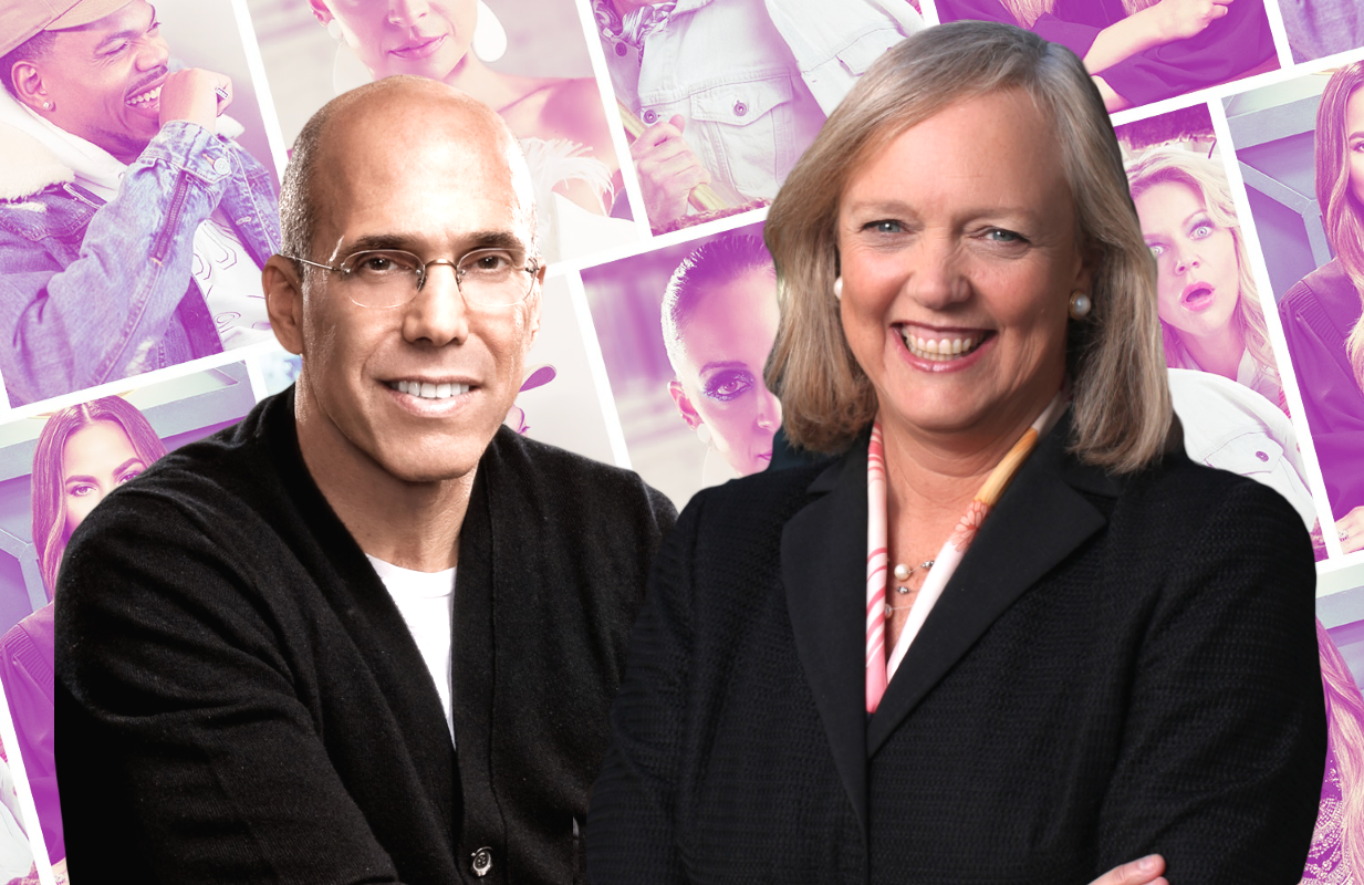 Quibi co-CEOs Jeffrey Katzenberg and Meg Whitman.