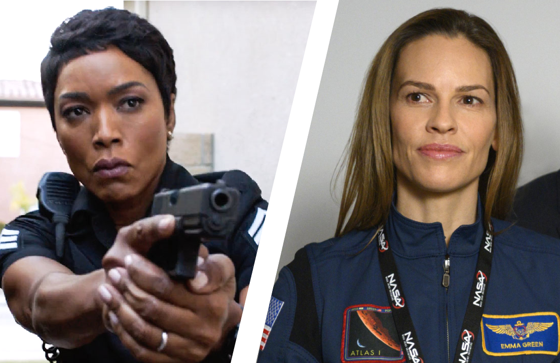The procedural all-stars: Oscar faves Angela Bassett in 9-1-1 and Hilary Swank in Away. (Photos: Fox, Netflix)