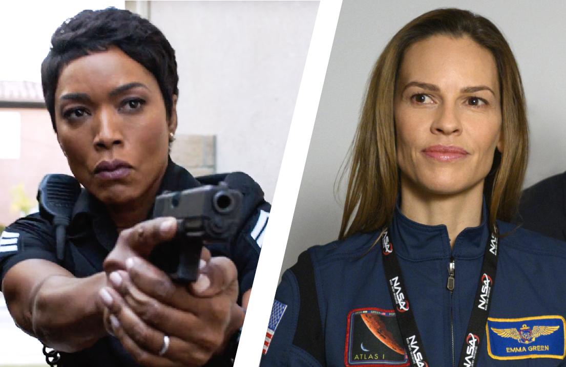 The procedural all-stars: Oscar faves Angela Bassett in 9-1-1 and Hilary Swank in Away. (Photos: Fox, Netflix)
