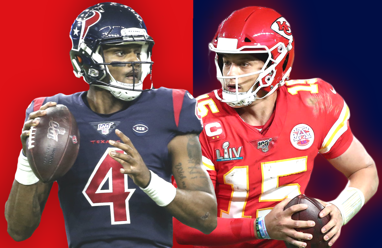 Deshaun Watson and the Houston Texans take on Super Bowl champions Patrick Mahomes and the Kansas City Chiefs at Thursday's NFL Kickoff 2020.