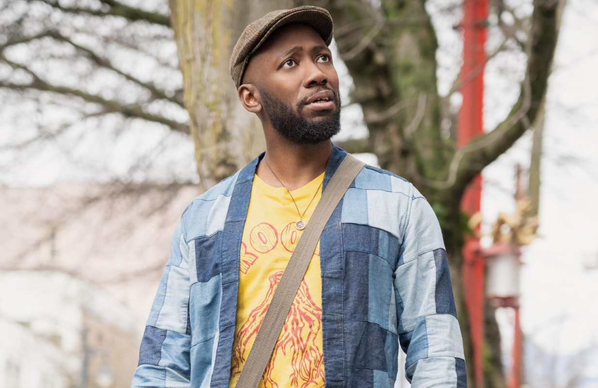 Lamorne Morris stars as a man who suddenly see life's injustices with clear eyes in Woke. (Hulu)
