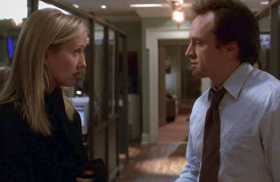 Janel Maloney and Bradley Whitford in The West Wing. (NBC)