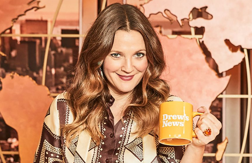 Drew Barrymore on the set of her new daytime talk show. (Photo: Ben Watts/CBS)