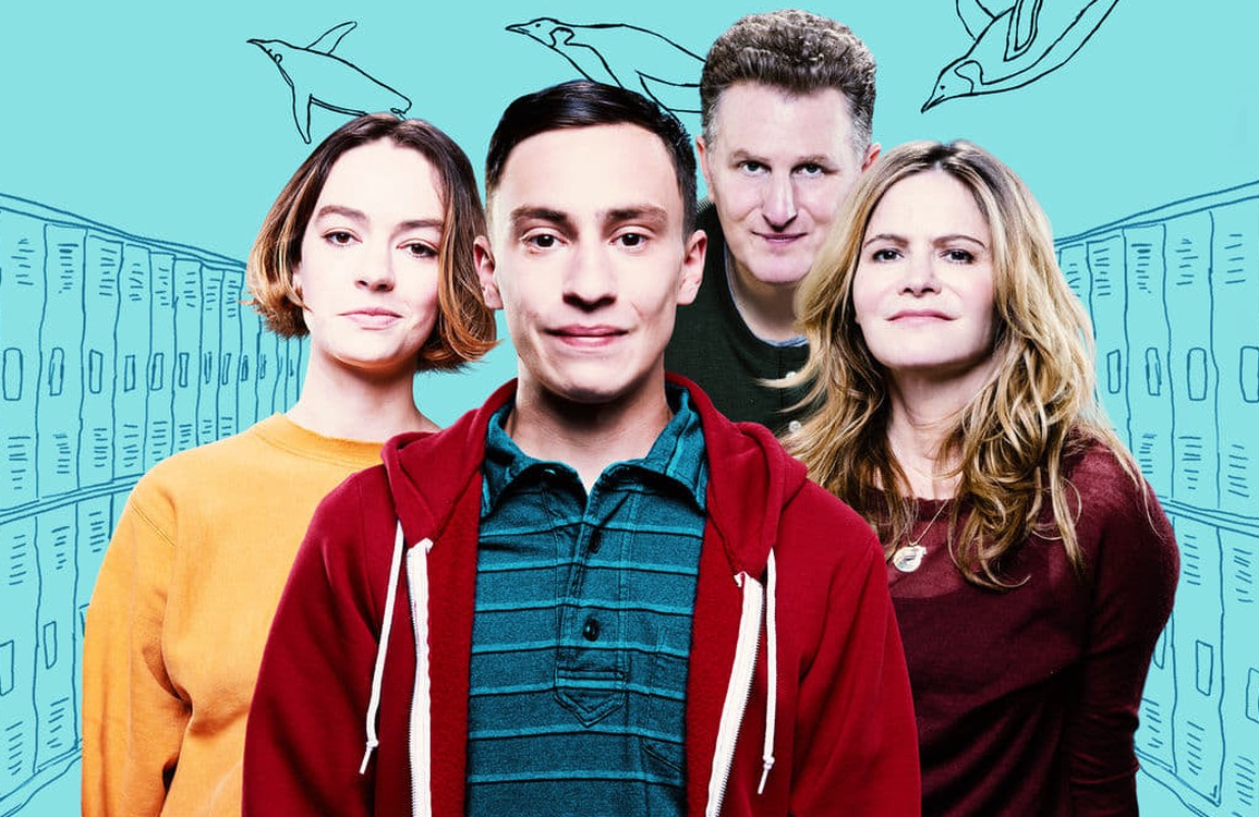 Brigette Lundy-Pain, Keir Gilchrist, Michael Rapaport and Jennifer Jason-Leigh star in Atypical. (Netflix)