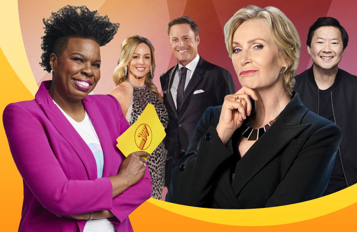 Networks are packing their early fall schedules with fresh reality programming, including the Leslie Jones-hosted Supermarket Sweep, Clare Crawley's Bachelorette, a new Westest Link revival starring Jane Lynch, and the Ken Jeong-hosted I Can See Your Voice (Photos: ABC/NBC/FOX)