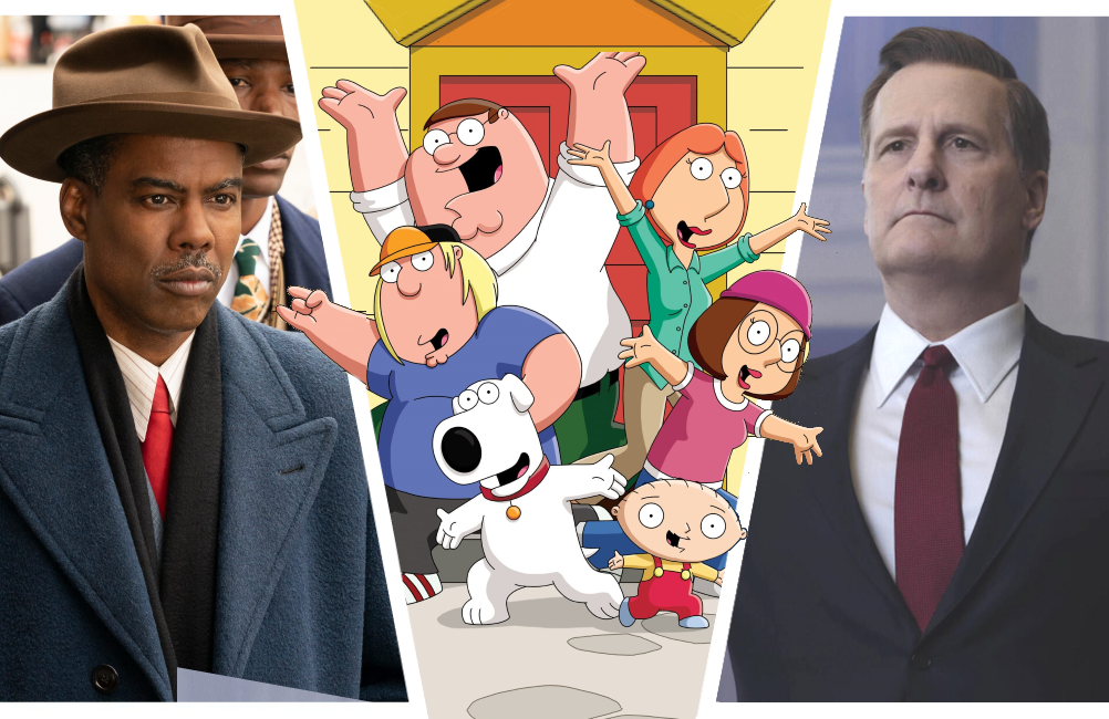 Fargo, Family Guy, and The Comey Rule. (Photos: FX /Fox/Showtime)