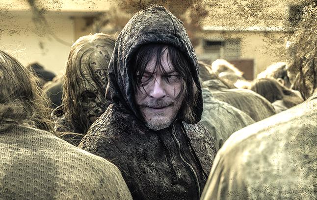 Norman Reedus in an image from tonight's Walking Dead Season 10 finale.