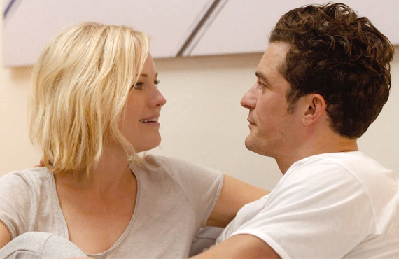 Malin Akerman and Orlando Bloom in Easy. (Netflix)