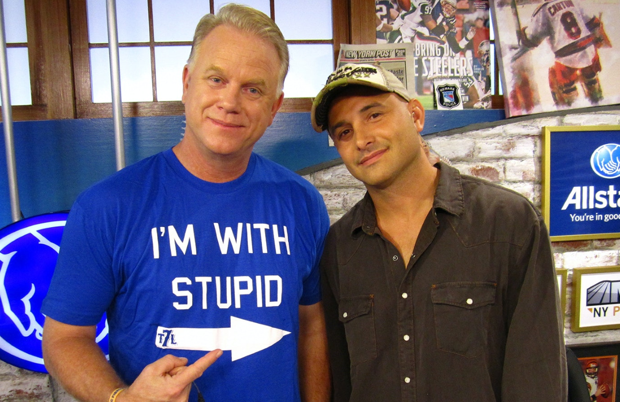 Craig Carton (left), with his former New York morning radio show co-host  Boomer Esiason. (Photo: HBO)