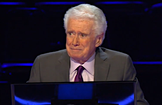 Regis Philbin on Who Wants To Be A Millionaire? (ABC)