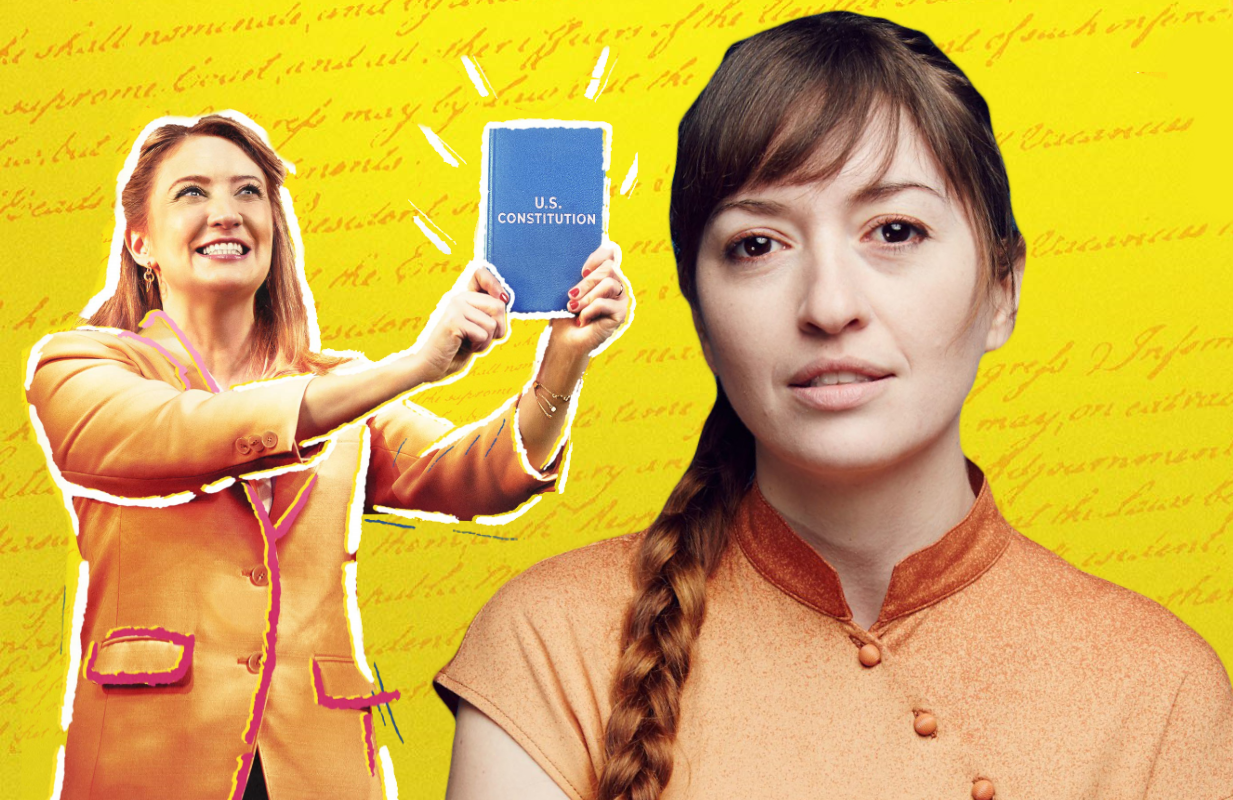 Marielle Heller (right) directs Heidi Schreck's What the Constitution Means to Me. (Amazon)